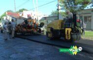 Viale : Continúa la repavimentación de calle 9 de Julio