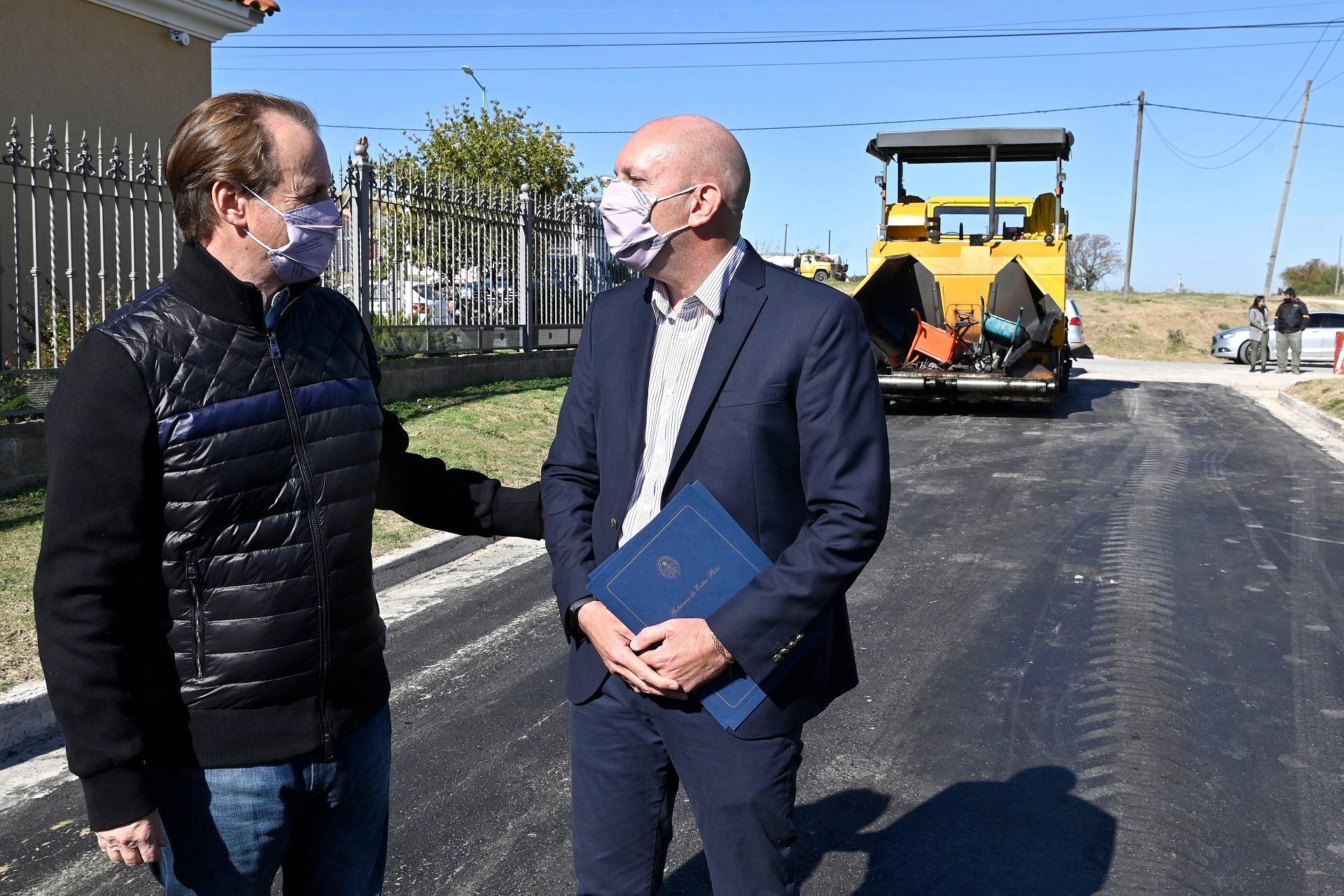 Bordet lleva adelante un programa de infraestructura vial, accesos y enripiados en pequeñas localidades